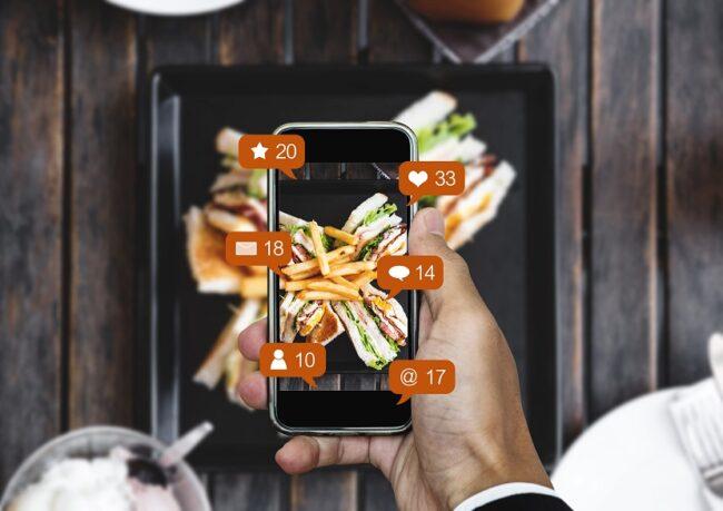 Adding menu photos to social media